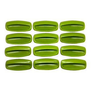 Mid-Century Plastic Recessed Cabinet/Furniture Hardware - Set of 12 For Sale
