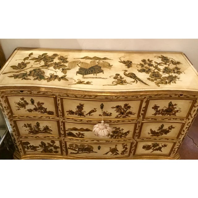 Vintage Cream Chinoiserie Painted Chest For Sale In Atlanta - Image 6 of 8