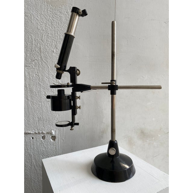 Metal W & H Seibert Wetzlar No. 30824 Promi Microscope Drawing and Projection Apparatus, Clay-Adams Company, Inc. New York, Circa 1920s For Sale - Image 7 of 9
