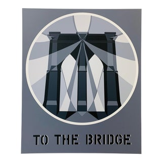 "Robert Indiana ""Brooklyn Bridge"" Serigraph For Sale"