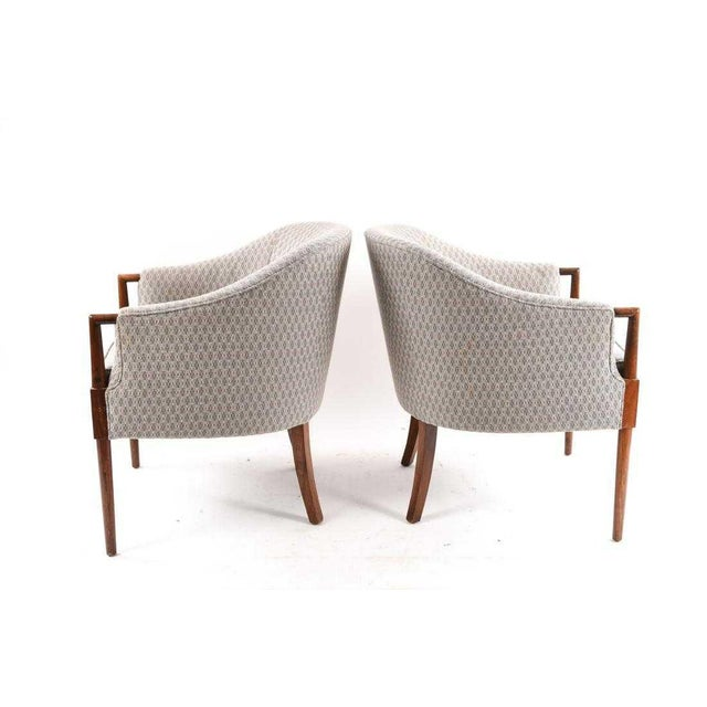 Mid-Century Vintage Ward Bennett Style Chairs- A Pair For Sale - Image 4 of 9