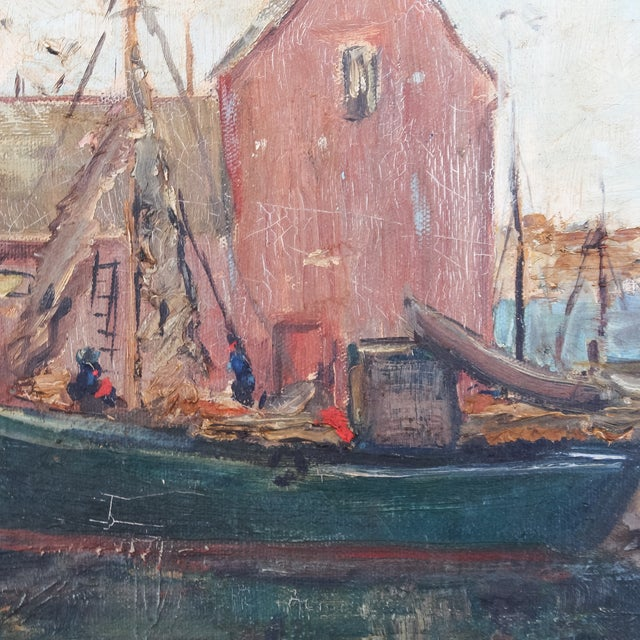 Daisy Thayer Wright Vintage 1940 Nautical Painting For Sale - Image 4 of 8