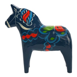 Wooden Swedish Dala Horse For Sale