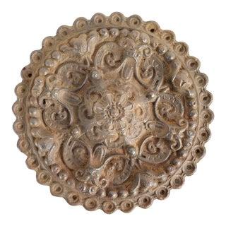 Antique Cast Iron Medallion For Sale