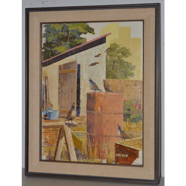 "Jack Wilson ""The Backyard Gang"" Original Palette Knife Painting c.1970 Jack Wilson (1919-1988) was an artist based in Los..."