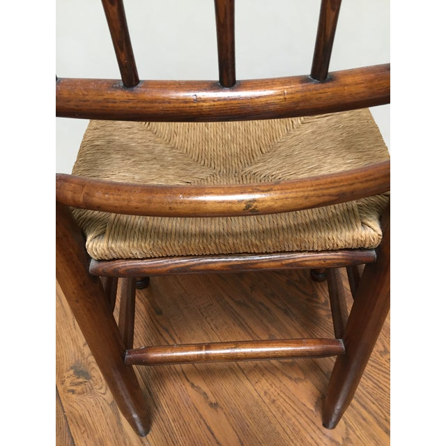 19th Century Americana Side Chair With Rush Seat For Sale - Image 9 of 10