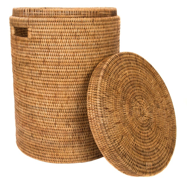 Cotton Liner Included. Artifacts Rattan hand woven hampers provide the perfect accent the bedroom or bathroom with a tight...