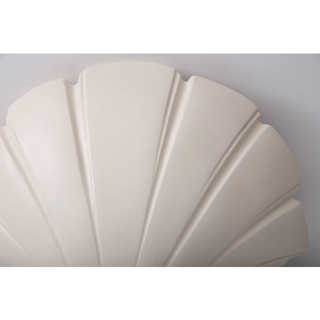 Late 20th Century Scallop Clam Shell-Form Wall Sconces by Sirmos - a Pair For Sale - Image 5 of 10