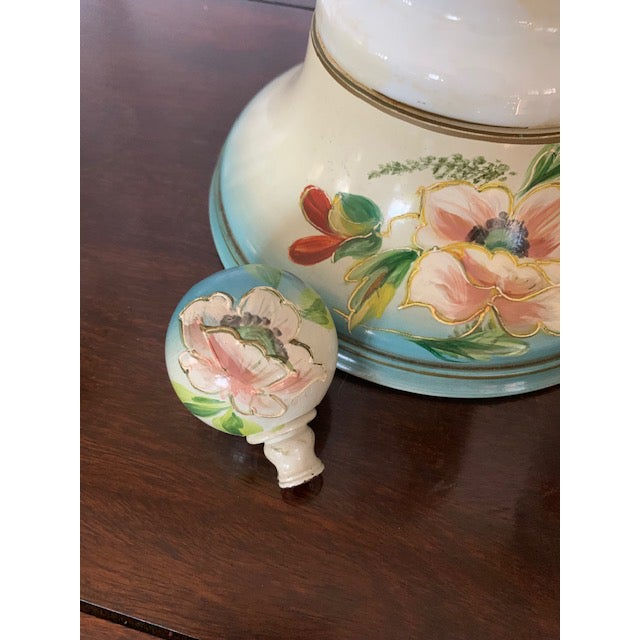 Beautifully Hand Painted- Lamps with hand painted knobs on top. These were my grandmothers so I am going to put them at a...