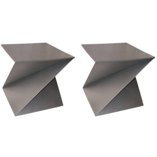1960s Vintage Origami Side Tables-a Pair For Sale