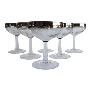 Vintage Ombre Champagne Coupes - Set of 6