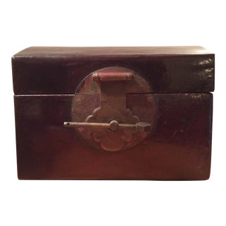 Antique Lacquer and Leather Box