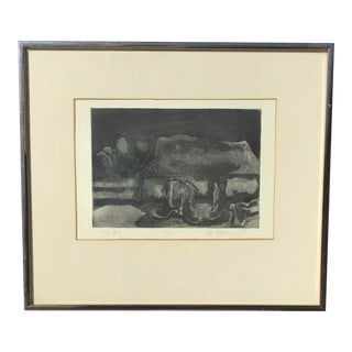 "Vintage Etching, ""Frye Boots"" - Signed 1/20 For Sale"