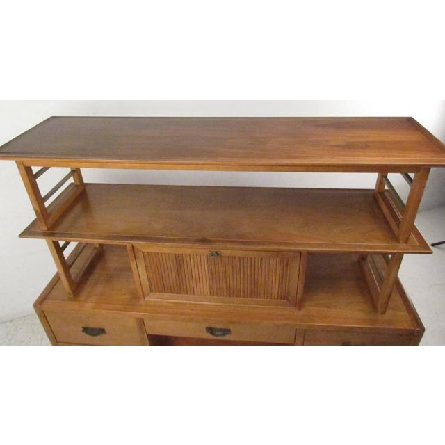 Gold Stiehl Furniture Mid-Century Workstation For Sale - Image 8 of 9