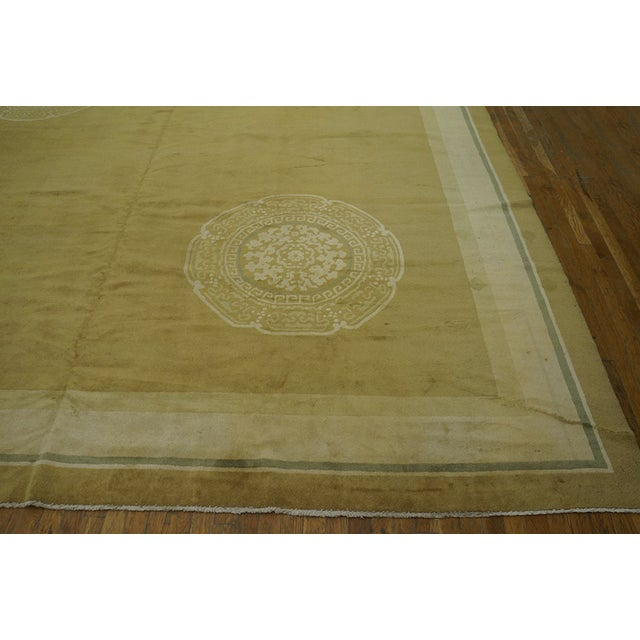 Textile Antique Chinese Art Deco Rug For Sale - Image 7 of 12