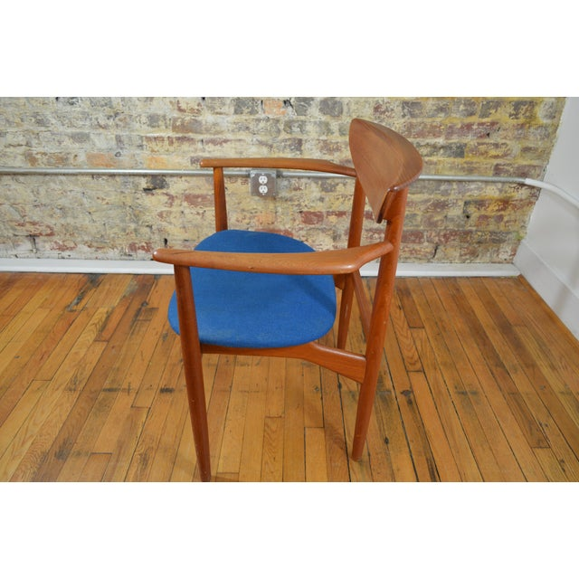 France & Sons Peter Hvidt & Helge Molgaard Nielsen Danish Teak Arm Chair For Sale - Image 4 of 5