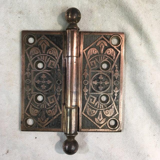 Antique Victorian Eastlake Polished Iron Door Hinge For Sale In Washington DC - Image 6 of 9