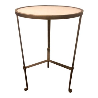 French Gilt Table With Marble Top For Sale