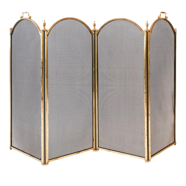 Unusually Tall Heavy Fire Screen For Sale