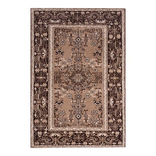 """Antique Indian Agra Rug 4'6"""" X 6'6"""" For Sale"""