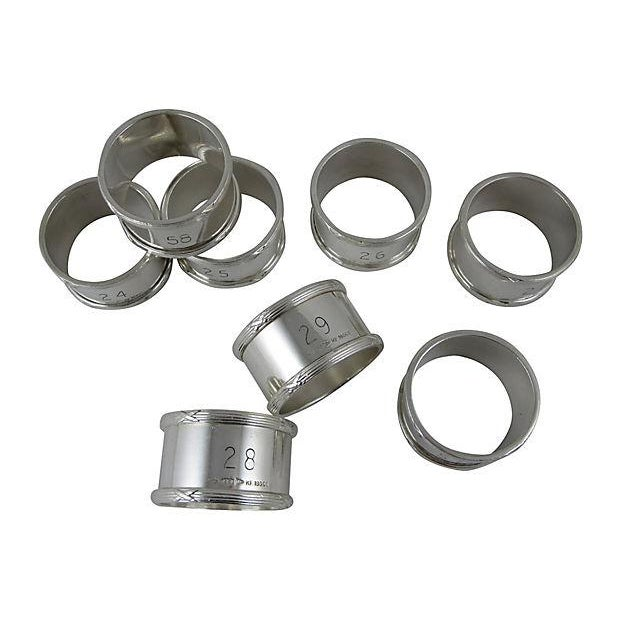 English Silver Plate Napkin Rings - Set of 8 - Image 8 of 8