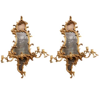 Fine Pair of George III Giltwood Girandole Mirrors, Thomas Chippendale For Sale