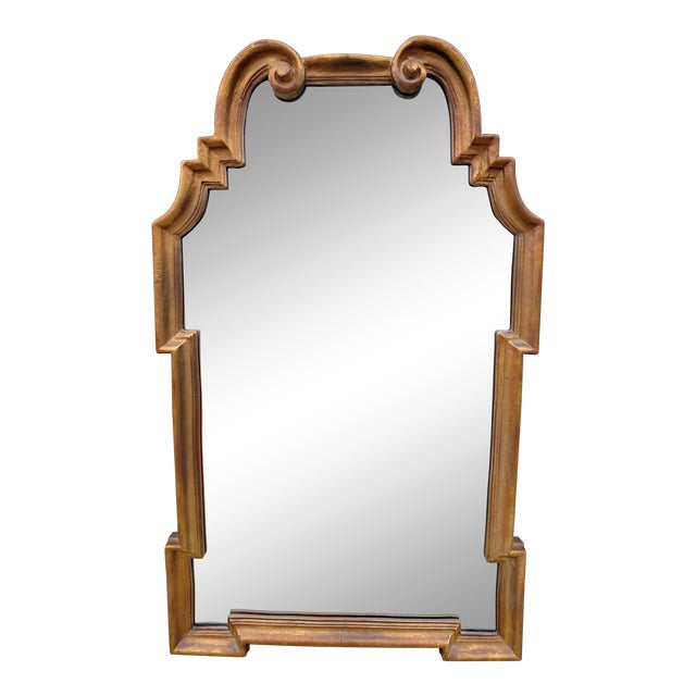 Gold Hollywood Regency Mirror For Sale