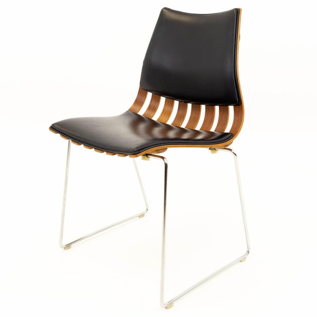 Mid-Century Modern Vintage Mid Century Hans Brattrud for Hove Mobler Teak Padded Scandia Chair For Sale - Image 3 of 8
