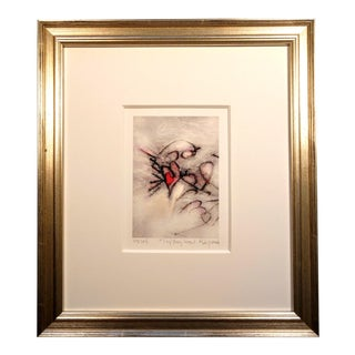 Framed and Matted Tiny Fairy Heart Print For Sale