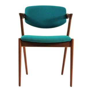 1960s Scandinavian Modern Kai Kristiansen Model 42 Teak Dining Chair For Sale
