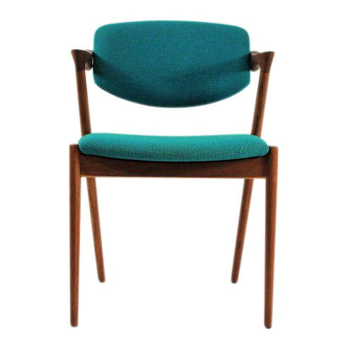 1960s Scandinavian Modern Kai Kristiansen Model 42 Teak Dining Chair For Sale