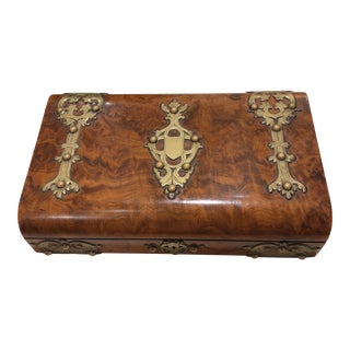 Antique English Burlwood Box