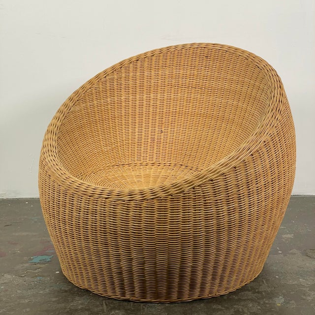 1960s Rattan Ball Chair Attributed to Isamu Kenmochi for Yamakawa Rattan For Sale - Image 5 of 5