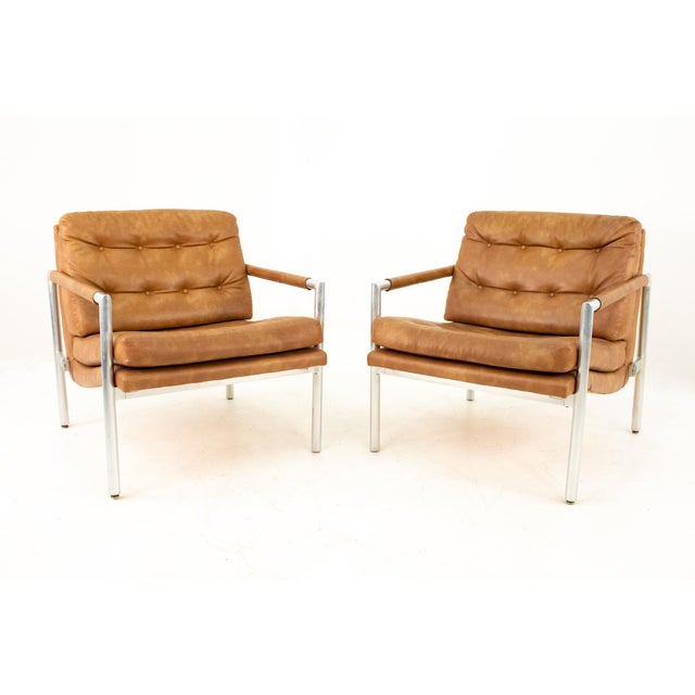 Jack Cartwright for Founders Mid Century Lounge Chairs - Pair For Sale - Image 11 of 11