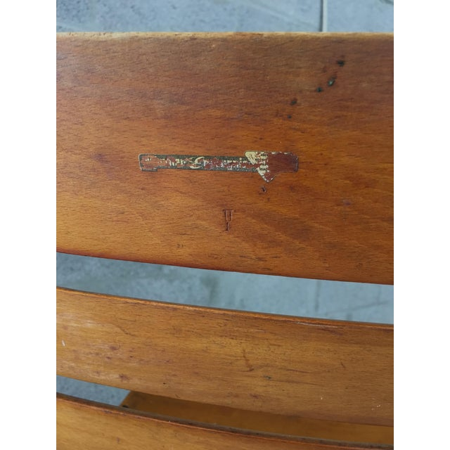 Vintage Rustic Slat Wood Folding Chairs - A Pair - Image 8 of 9