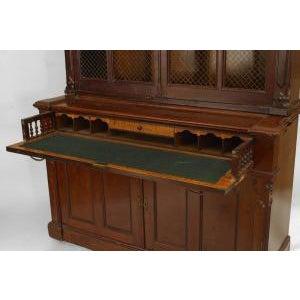 Americana American Victorian plum-pudding mahogany secretaire-bookcase For Sale - Image 3 of 4