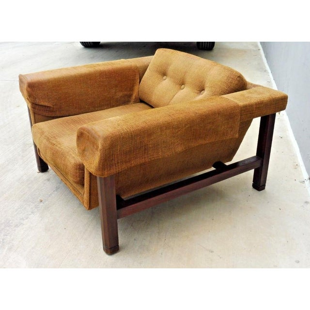 Danish Modern 1960's Mid Century Modern Low Slung Lounge Chair For Sale - Image 3 of 8