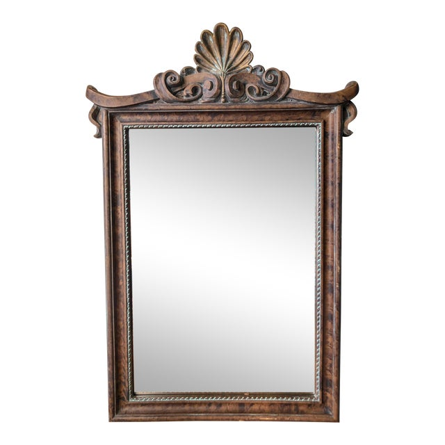 Pagoda Shell Crest Mirror For Sale