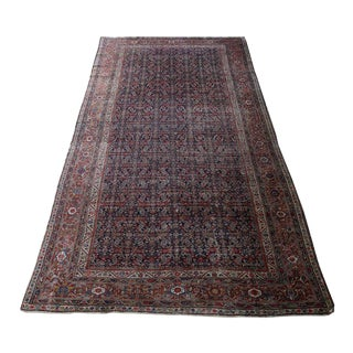 Antique Persian Mahal Rare Rug - 7'4''x 16'10'' For Sale