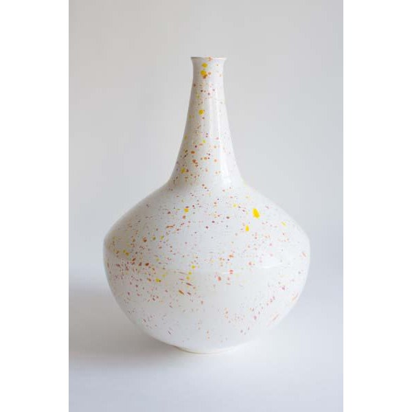 Mid-Century Modern Mid Century Speckled Pottery Vase For Sale - Image 3 of 3