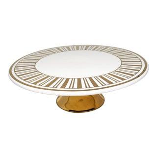 Nicole Miller Home Porcelain Cake Plate For Sale