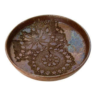 Art Pottery Shallow Bowl For Sale