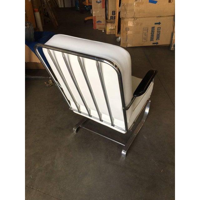 """KEM Weber Kem Weber Chrome Art Deco Armchair """"Springer Chair"""" for Lloyd For Sale - Image 4 of 8"""
