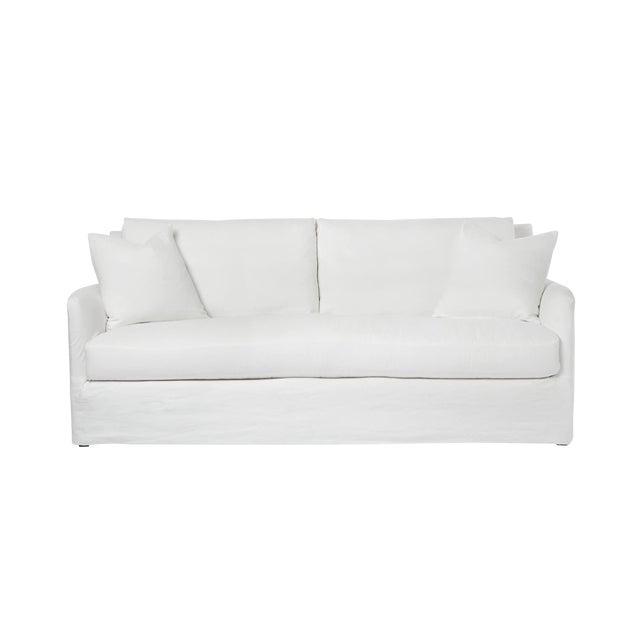Michael Dawkins Jasmin Linen Upholstered Sofa For Sale