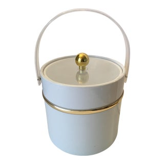 White & Brass Ice Bucket
