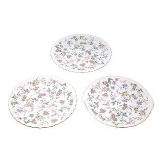 "Vintage ""Corona"" Floral Chintz Serving Pieces by Sadek - Set of 3 For Sale"