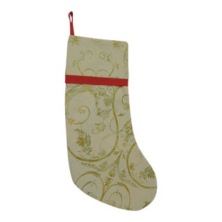 1990s Vintage Artisanal Red Holiday Double-Sided Gift Stocking For Sale