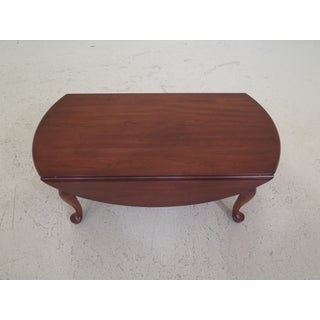 1980s Vintage Henkel Harris Queen Anne Cherry Drop Leaf Coffee Table Preview