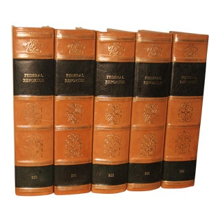Leather Bound Law Books - Set of 5 For Sale