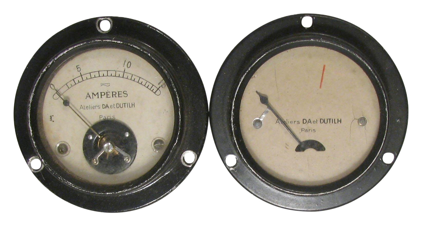 French Art Deco Industrial Gauges C 1920 Pair For Sale